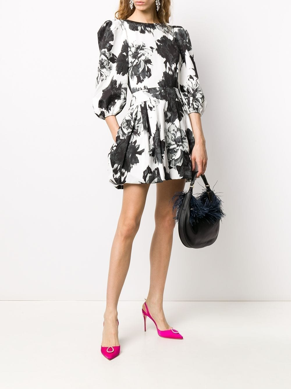 ALEXANDRE VAUTHIER Flared Floral-print Midi Dress