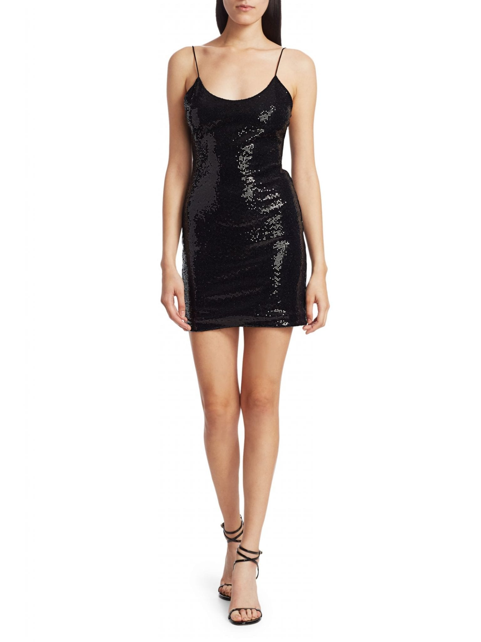 ALICE + OLIVIA Nellie Sequined Mini Slip Dress
