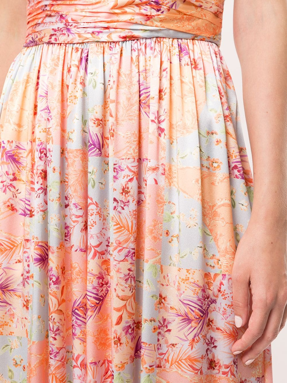 AMUR Pleated Floral Jumpsuit Dress