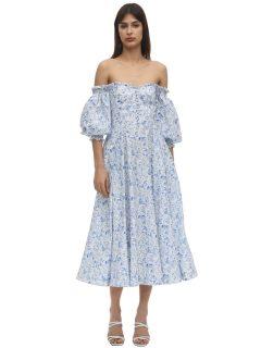 ANOUKI Bardot Shoulder Poplin Dress