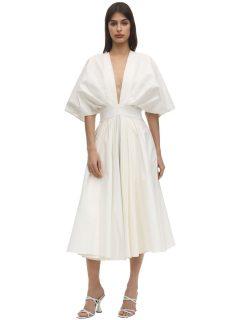 ANOUKI Origami Folded Cotton Blend Dress