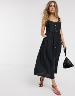 ASOS DESIGN Overall Button Through Midi Sun Dress