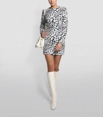 BALMAIN Sequin Giraffe Print Dress