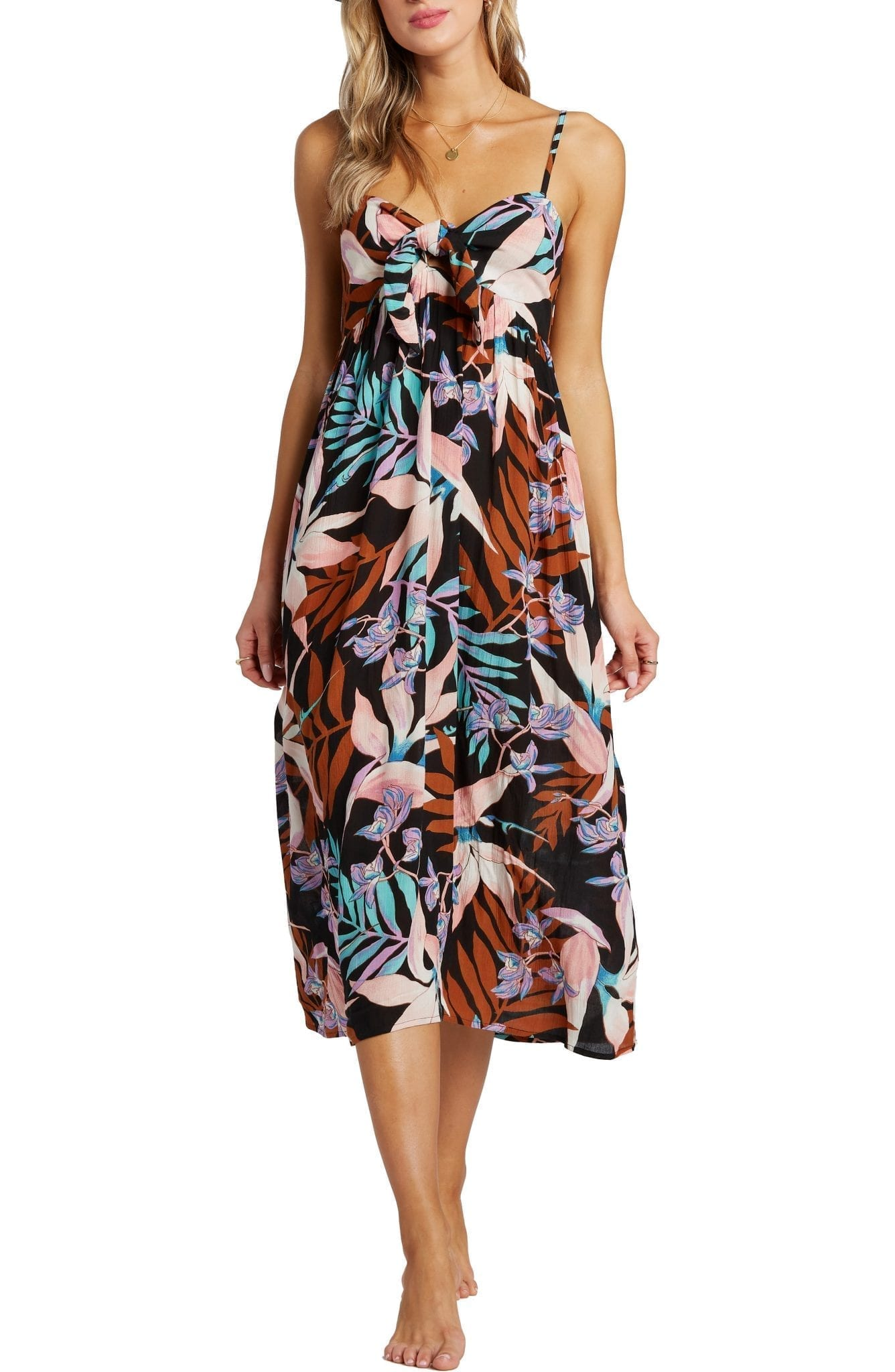 BILLABONG Twist It Knot Front Midi Dress