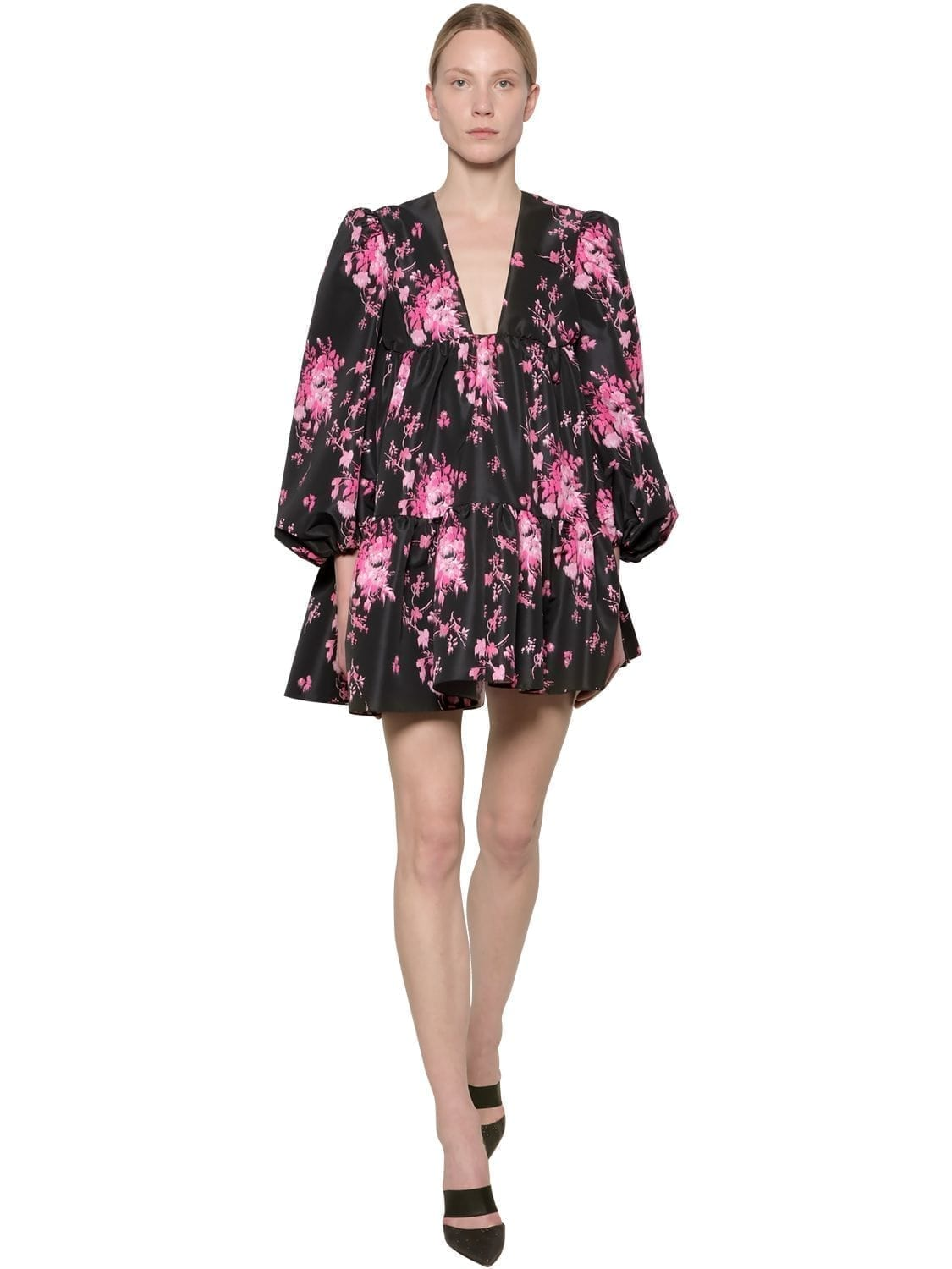 BROGNANO Floral Print Nylon Mini Dress