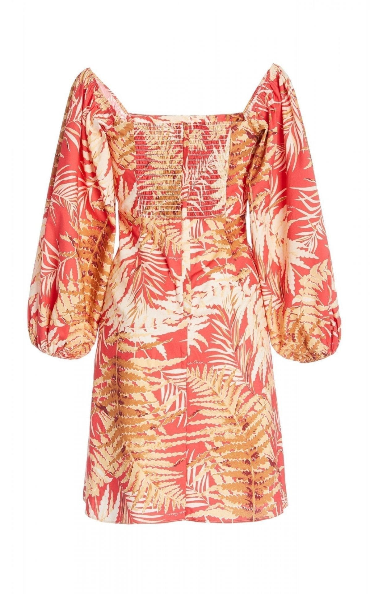 CARA CARA Montauk Printed Cotton-Poplin Mini Dress