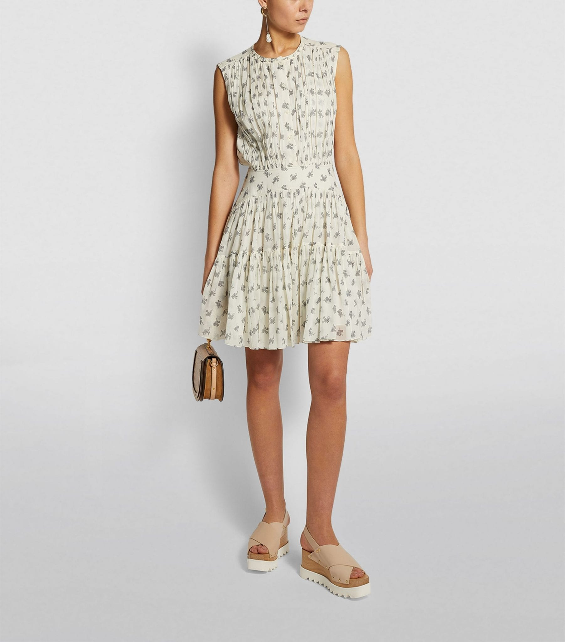 CHLOÉ Sleeveless Floral Mini Dress