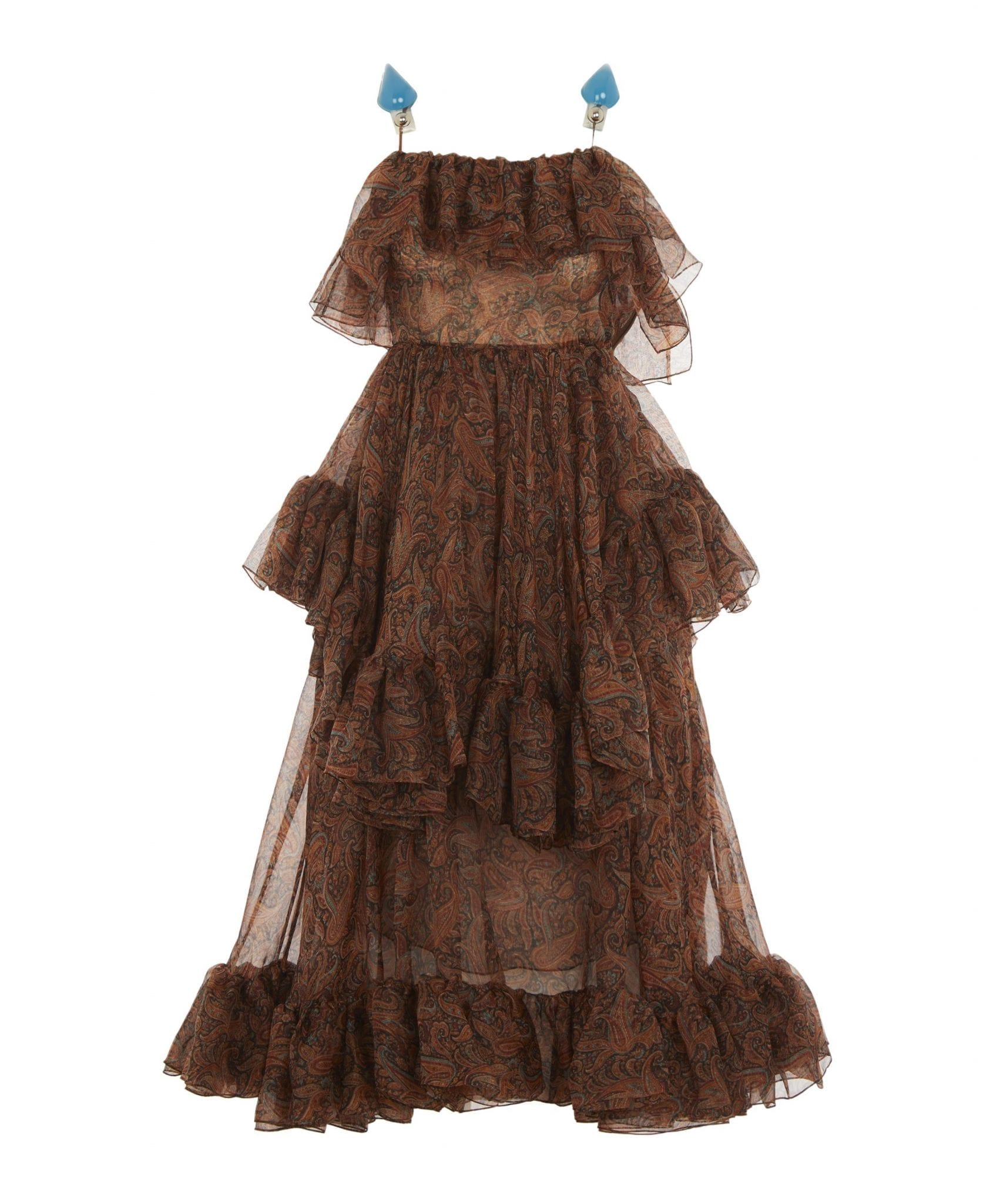 CHRISTOPHER KANE Paisley Organza Frill Dress