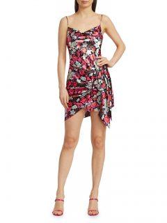 CINQ À SEPT Whitney Metallic Floral Mini Dress