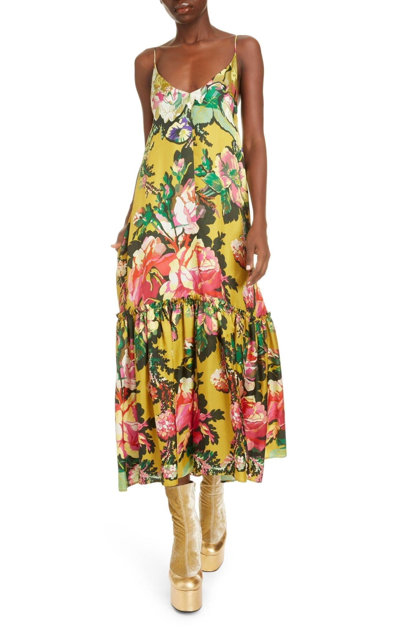 DRIES VAN NOTEN Diba Floral Ruffle Sun Dress