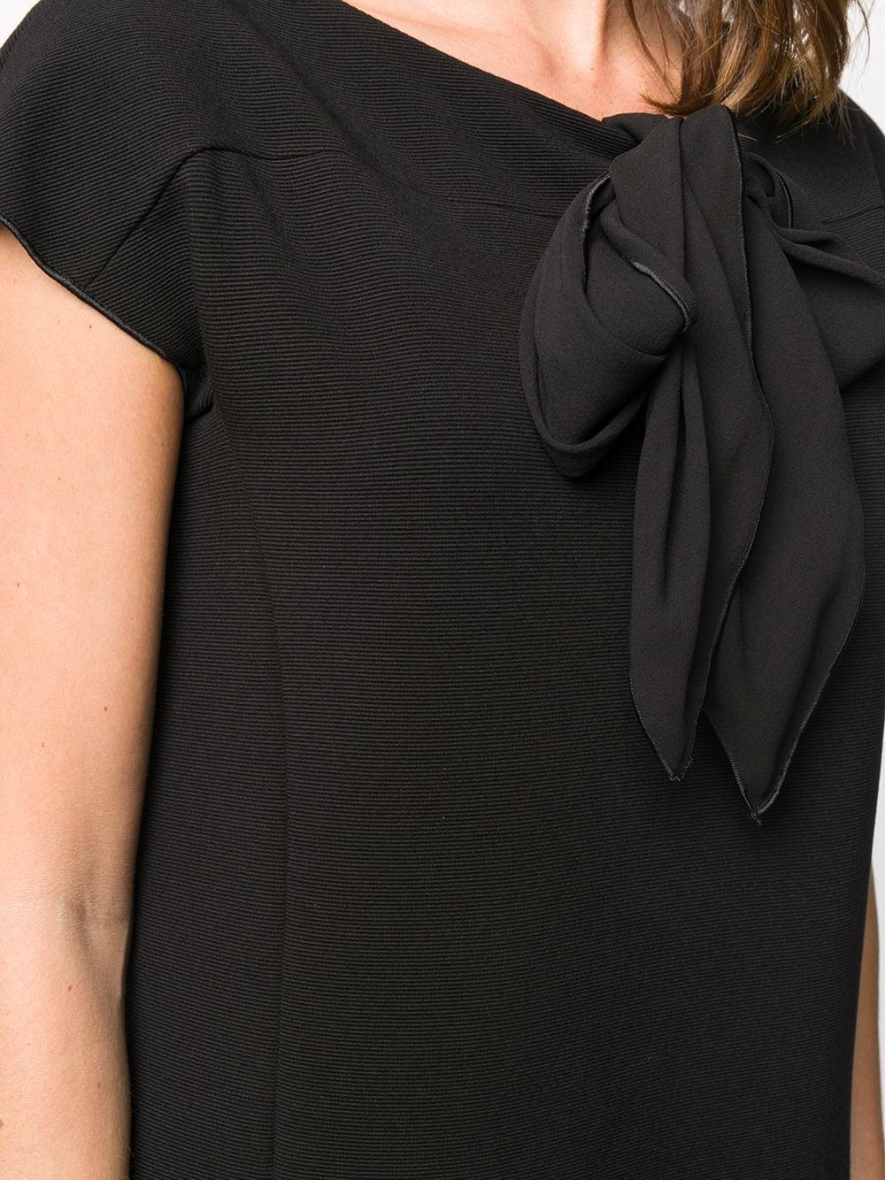 EMPORIO ARMANI Pussy Bow T-shirt Dress