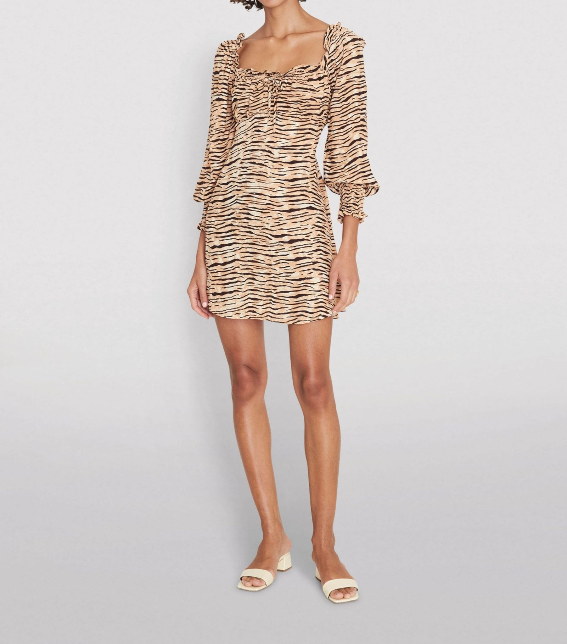 FAITHFULL THE BRAND Animal Print Ira Mini Dress