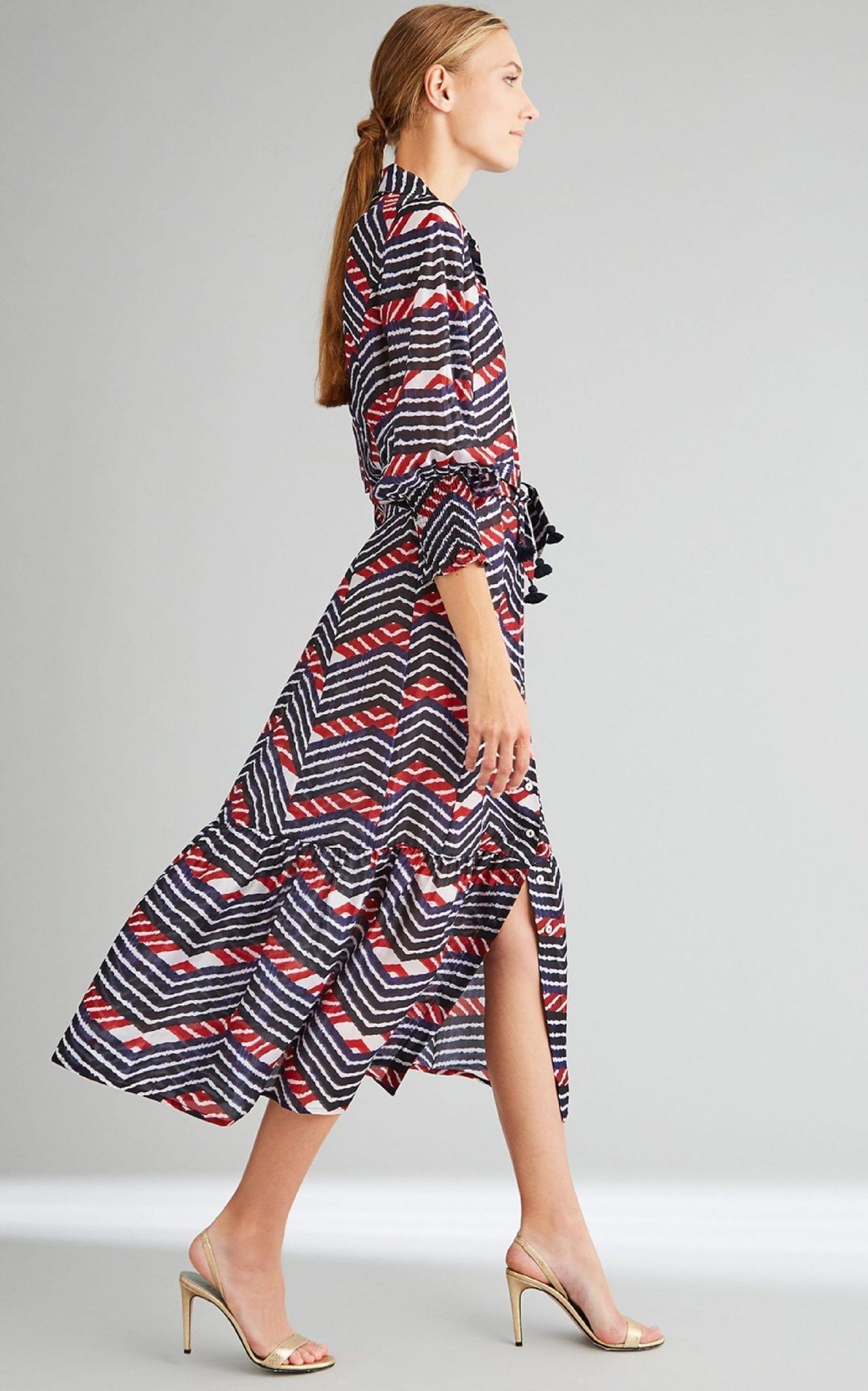 FIGUE Indiana Printed Silk-Georgette Midi Dress
