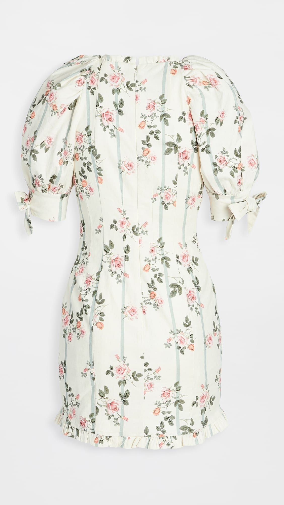 FOR LOVE & LEMONS Rose Stripe Mini Dress