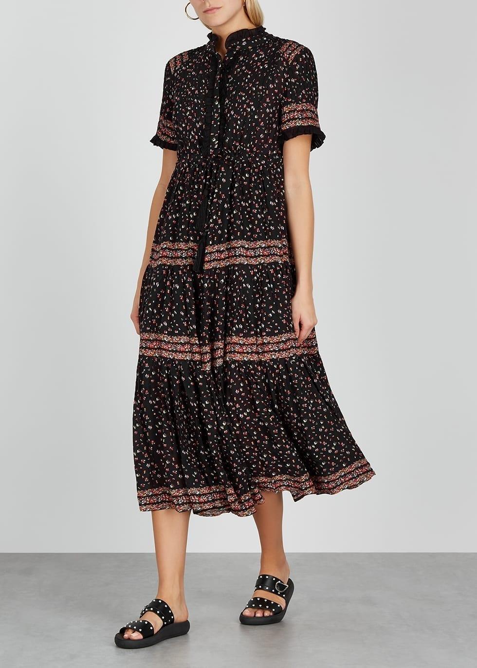 FREE PEOPLE Rare Feeling Floral-print Gauze Maxi Dress
