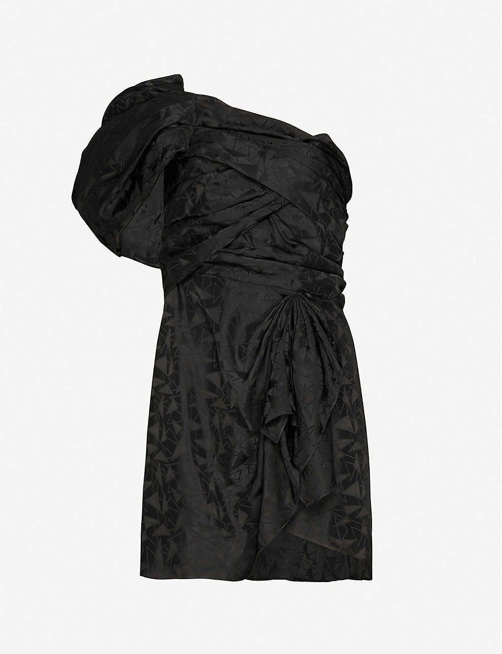 ISABEL MARANT Asymmetric-neckline Woven Mini Dress