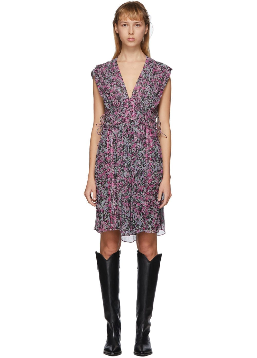 ISABEL MARANT Black & Multicolor Oaxoli Dress