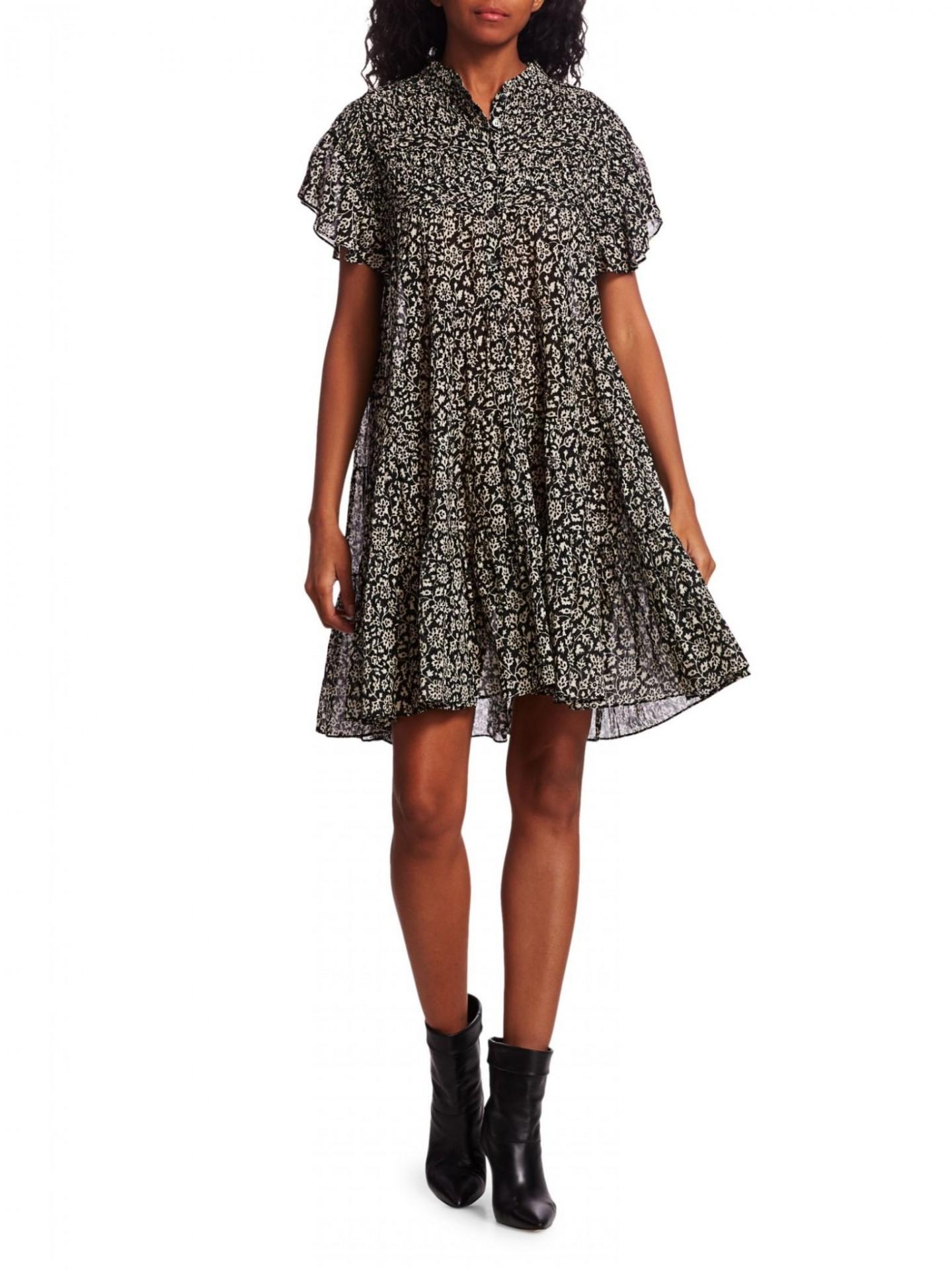 ISABEL MARANT ETOILE Lanikaye Floral A-line Shirt Dress