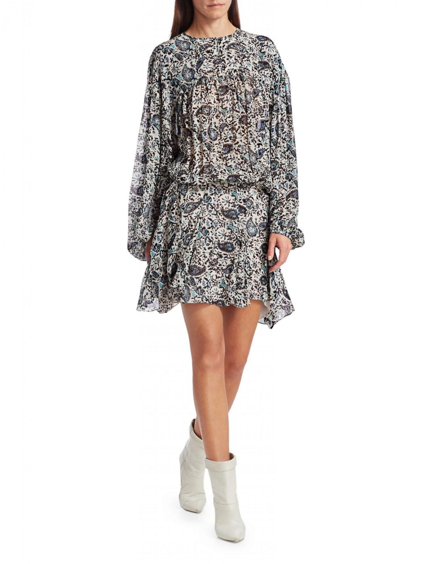ISABEL MARANT ETOILE Nimazu Paisley Puff-Sleeve Dress