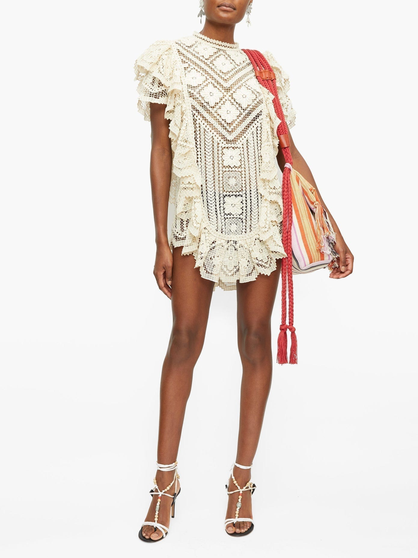 ISABEL MARANT Zanetti Ruffled Crocheted-lace Mini Dress