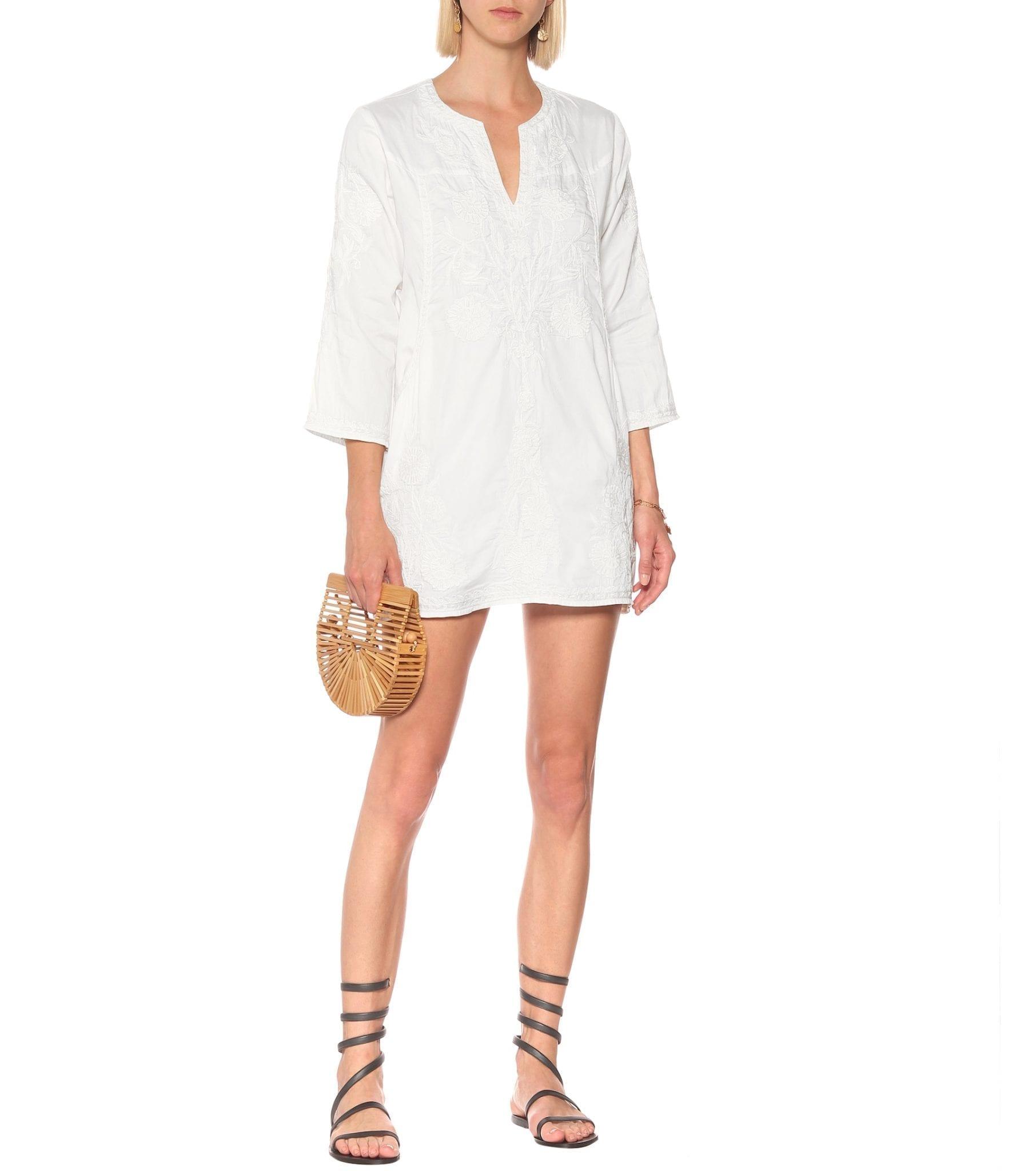 JULIET DUNN Cotton-chambray Mini Dress
