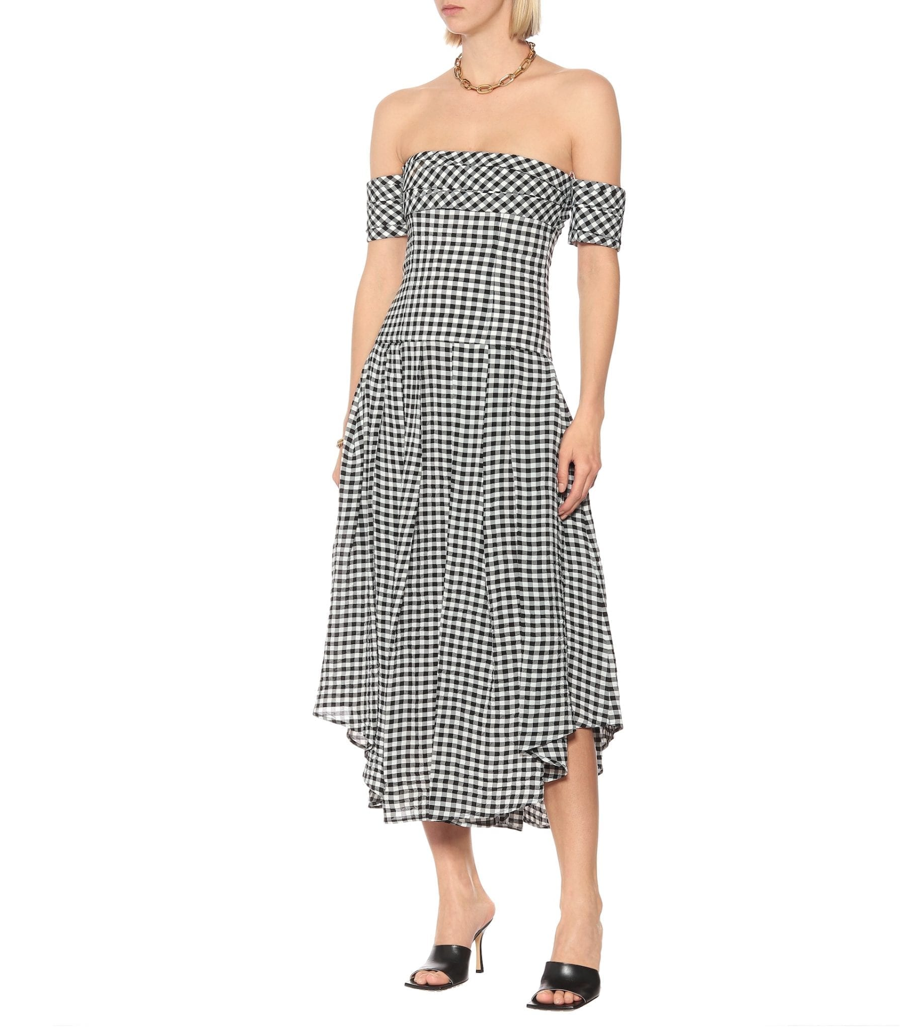 KHAITE Exclusive To Mytheresa – Amanda Gingham Midi Dress