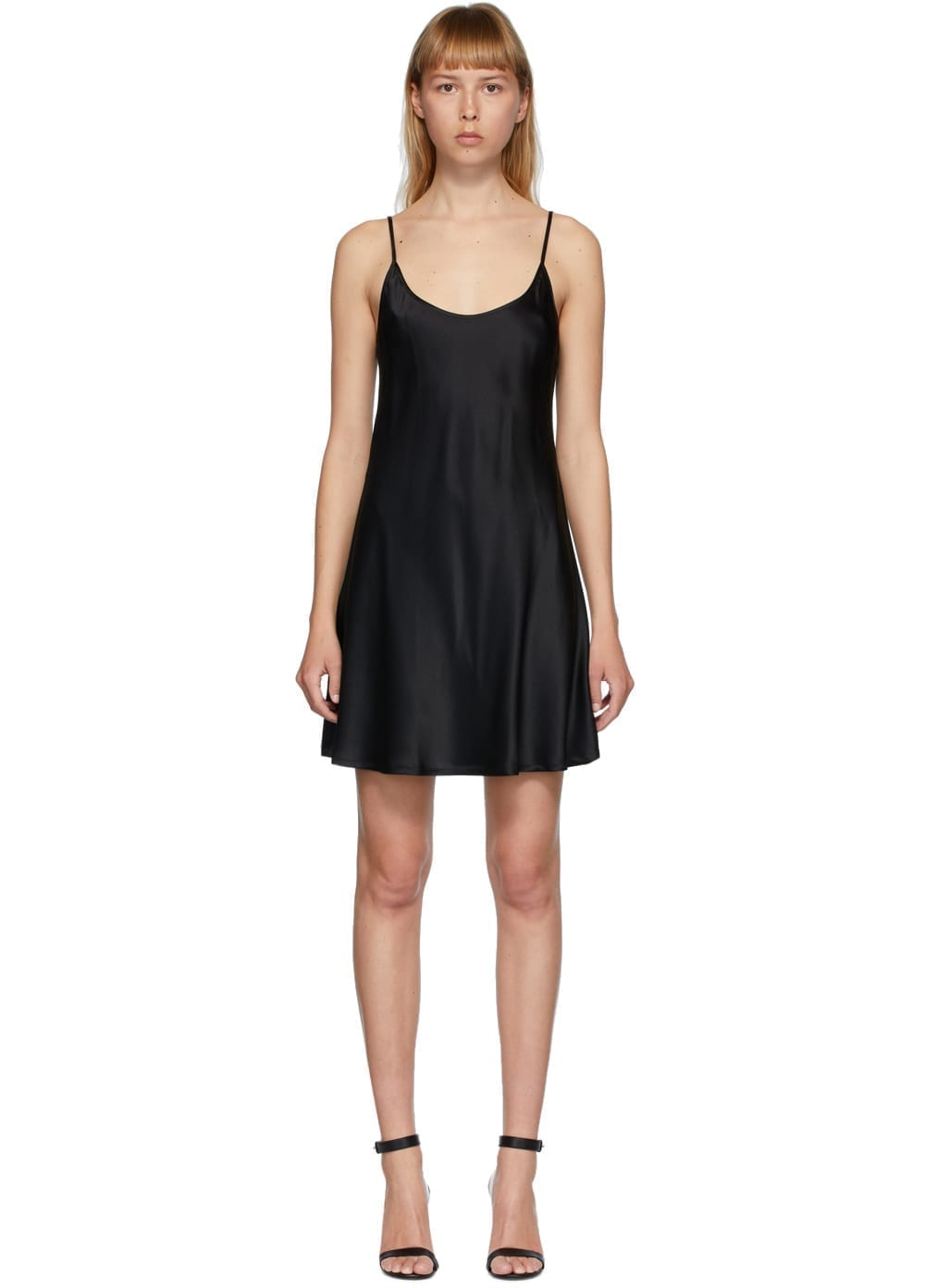LA PERLA Black Silk Mini Dress