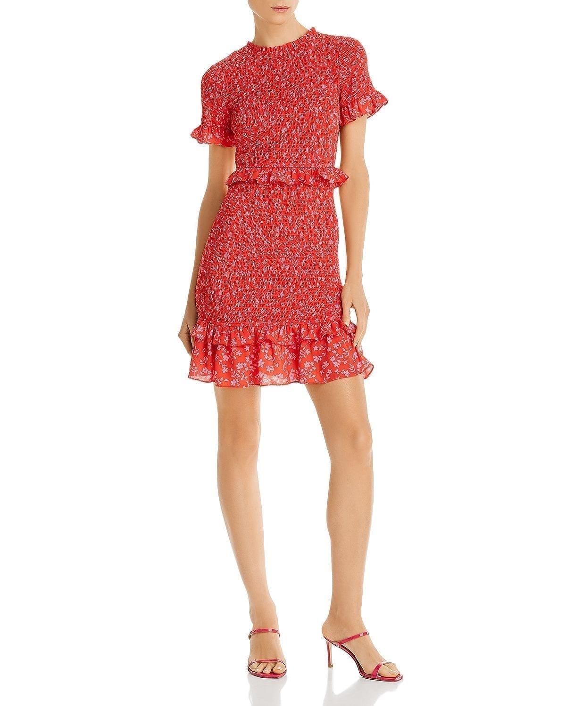 LIKELY Faye Ruffled Smock Dress