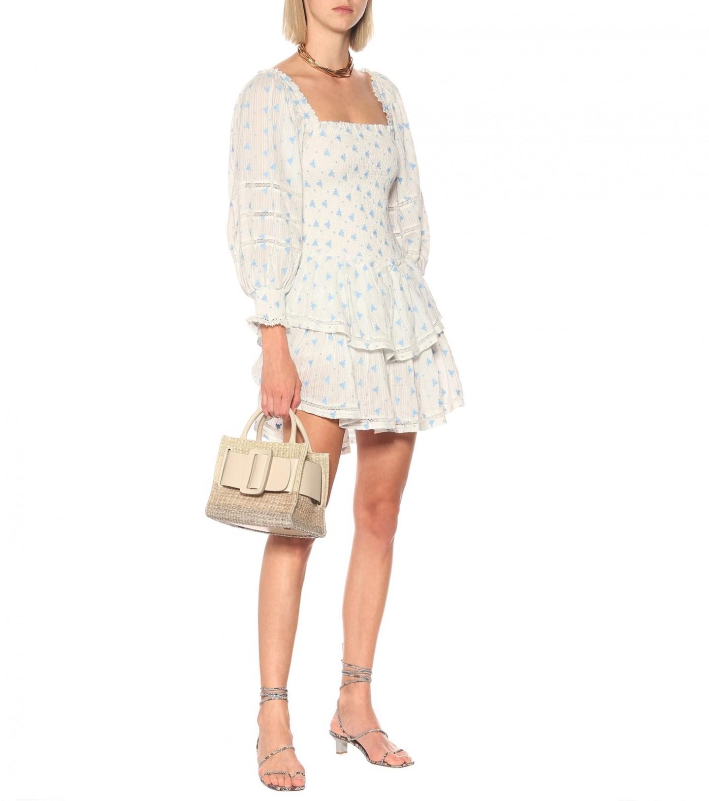 LOVESHACKFANCY Exclusive To Mytheresa – Raelynn Floral Cotton Mini Dress