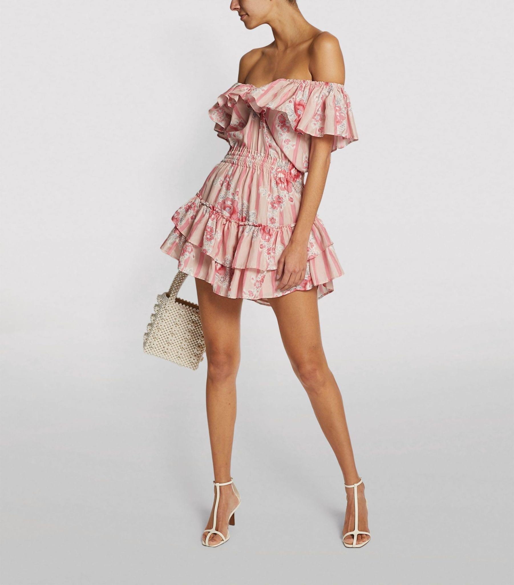 LOVESHACKFANCY Silk Dessie Ruffle Dress