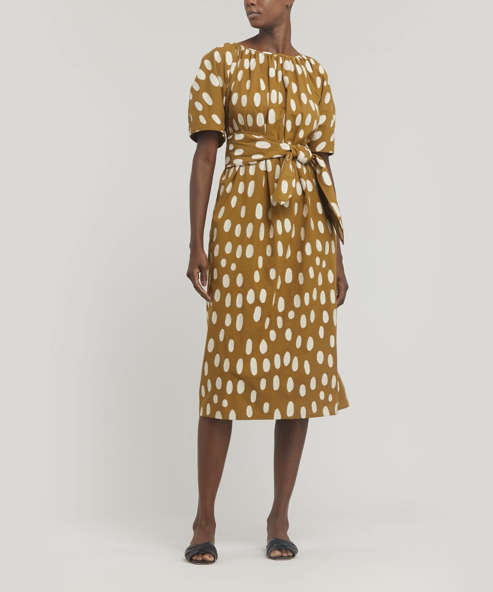 MARA HOFFMAN Aliz Spotted Midi-Dress