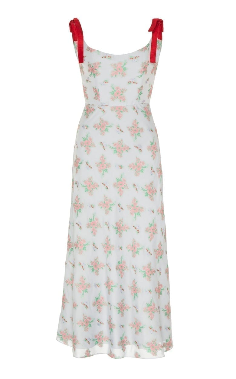 MARKARIAN Shylock Floral-Print Crepe Midi Dress