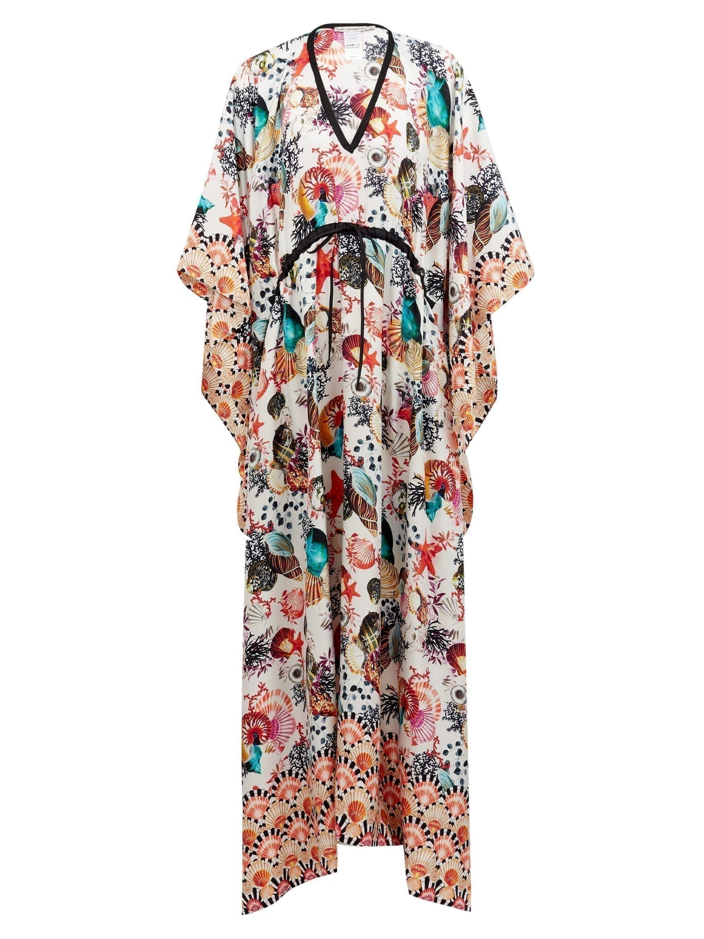 MARY MARE St. Tropez Shell-print Silk Kaftan Dress