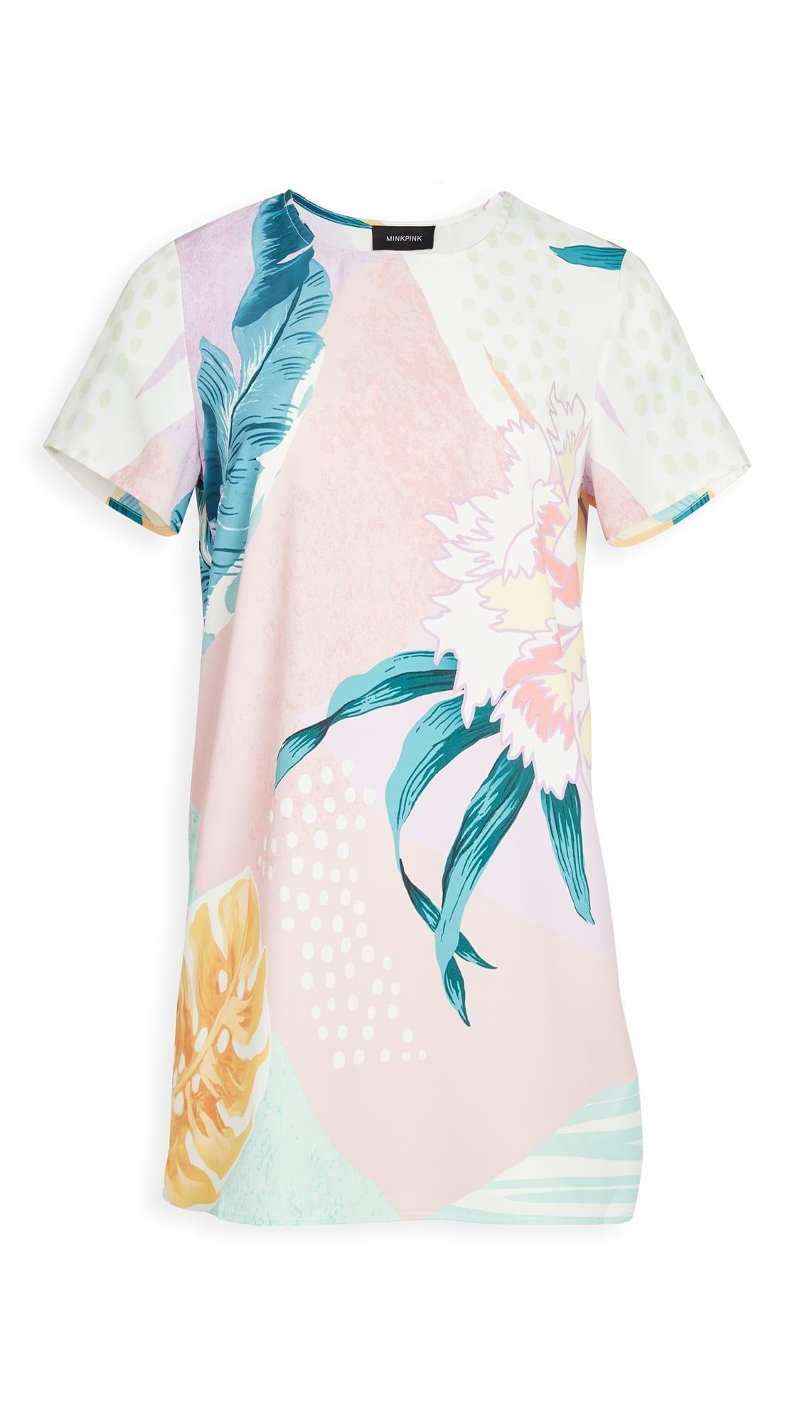 MINKPINK Abstract Foliage Tee Dress