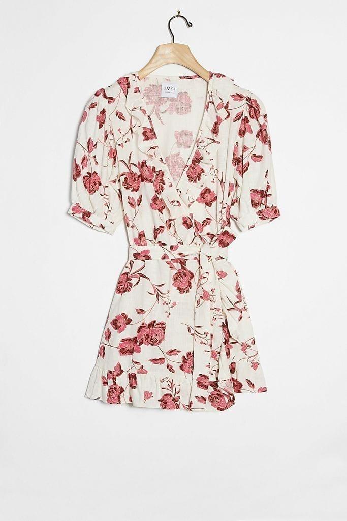MISA Ilyana Wrap Mini Dress