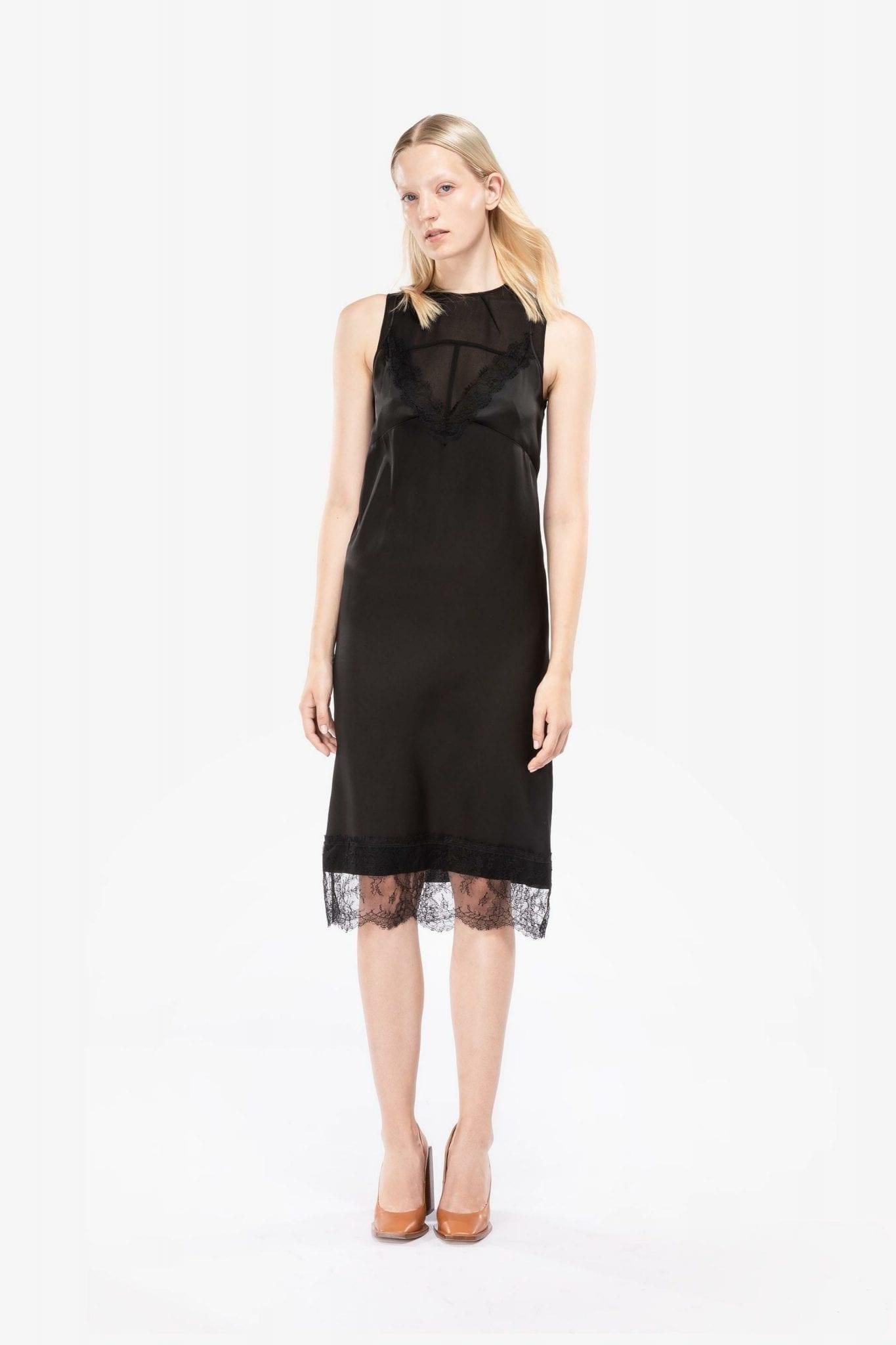 NO21 Sheer Panel Dress