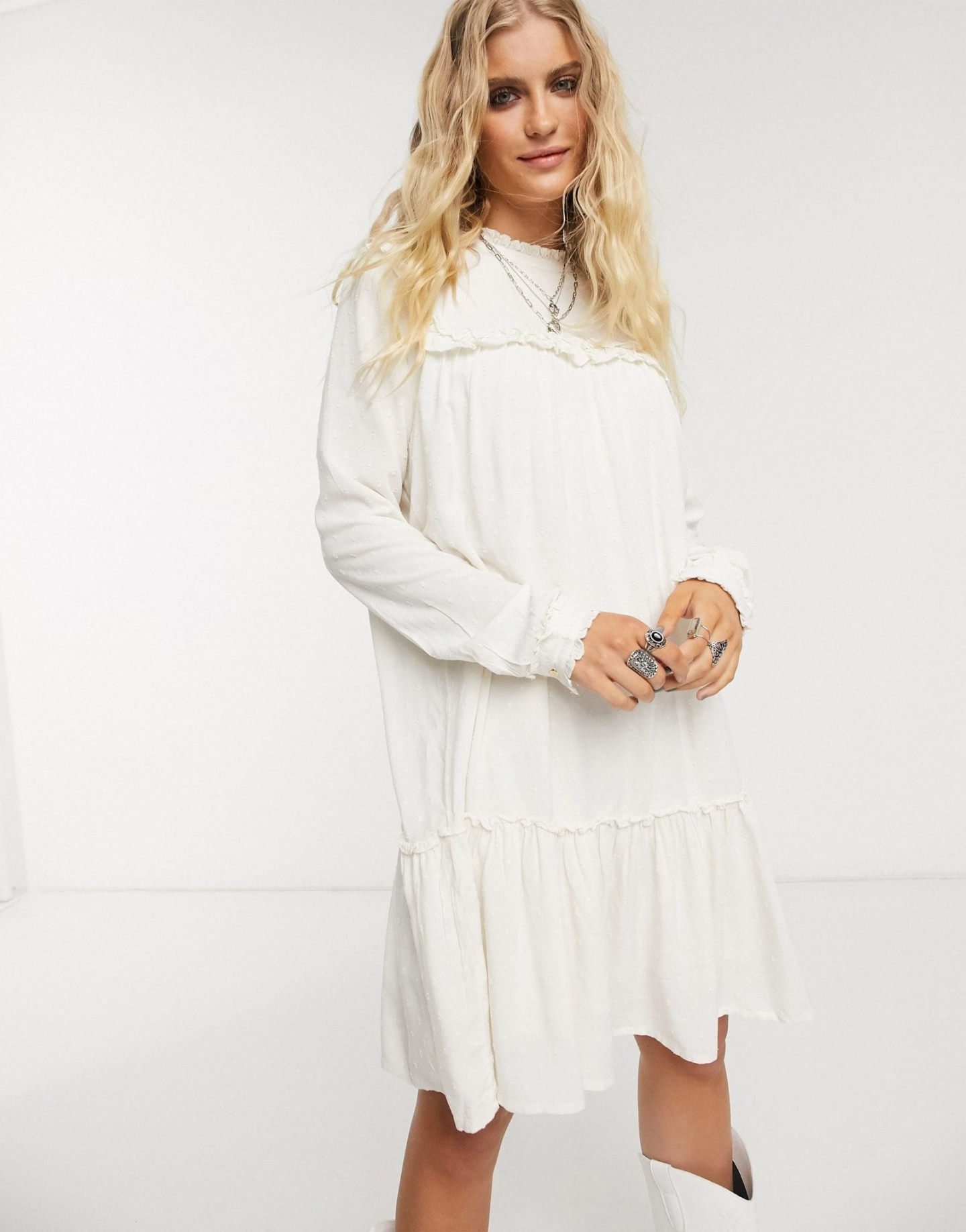 OBJECT High Neck Mini Smock Dress