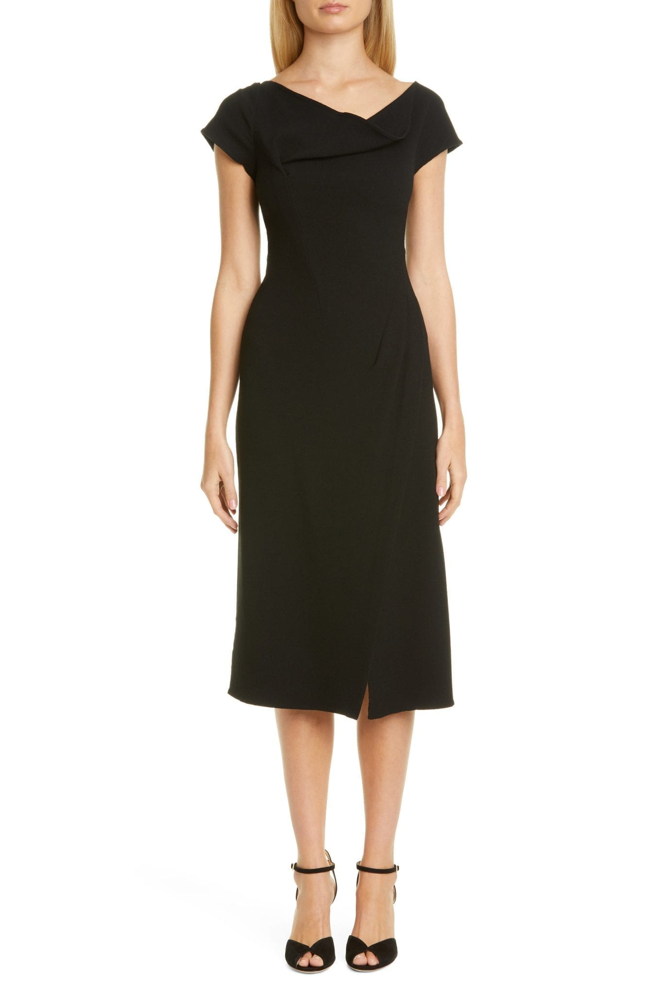 OSCAR DE LA RENTA Drape Neck Dress