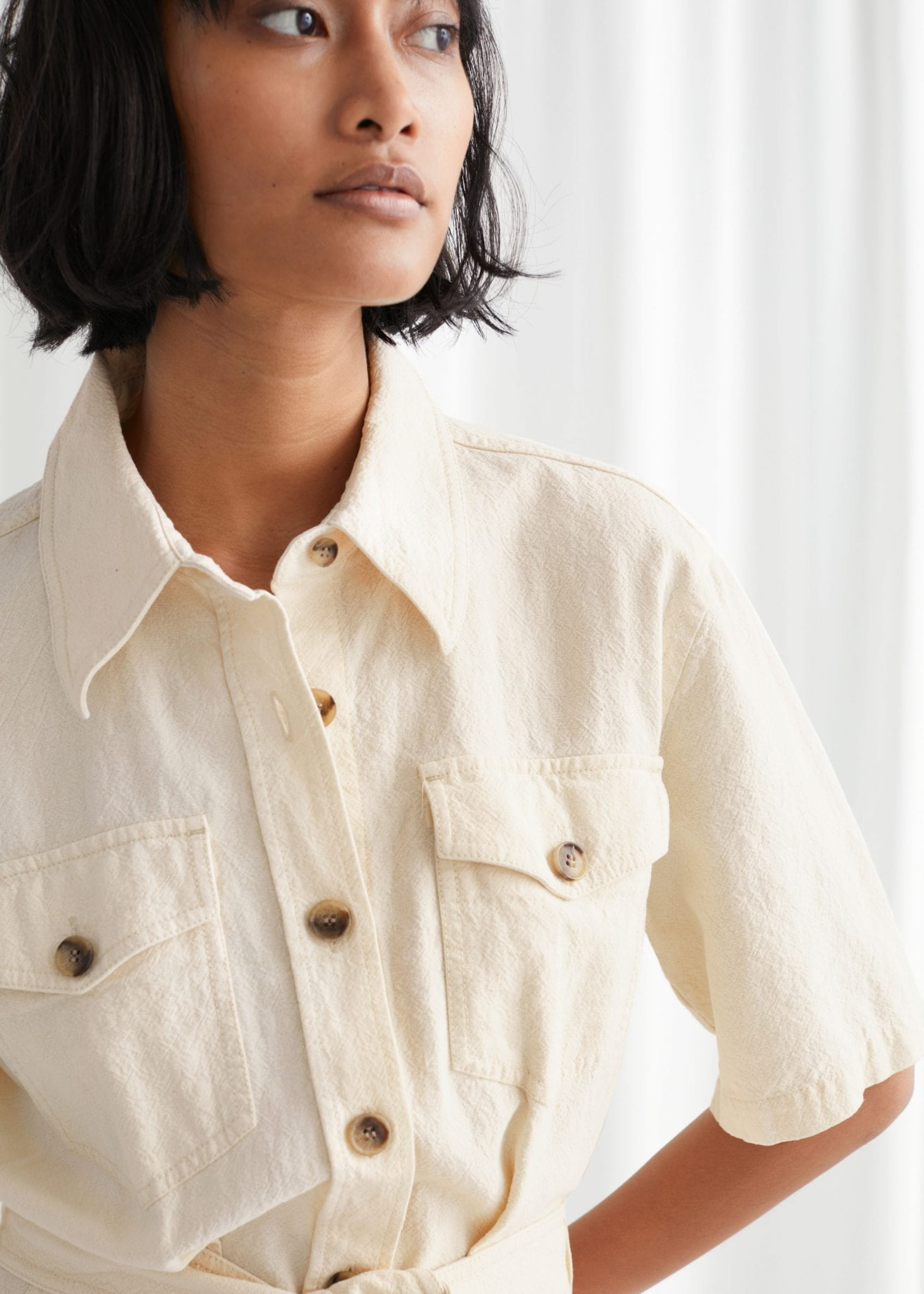OTHER STORIES Belted Shirt Mini Dress