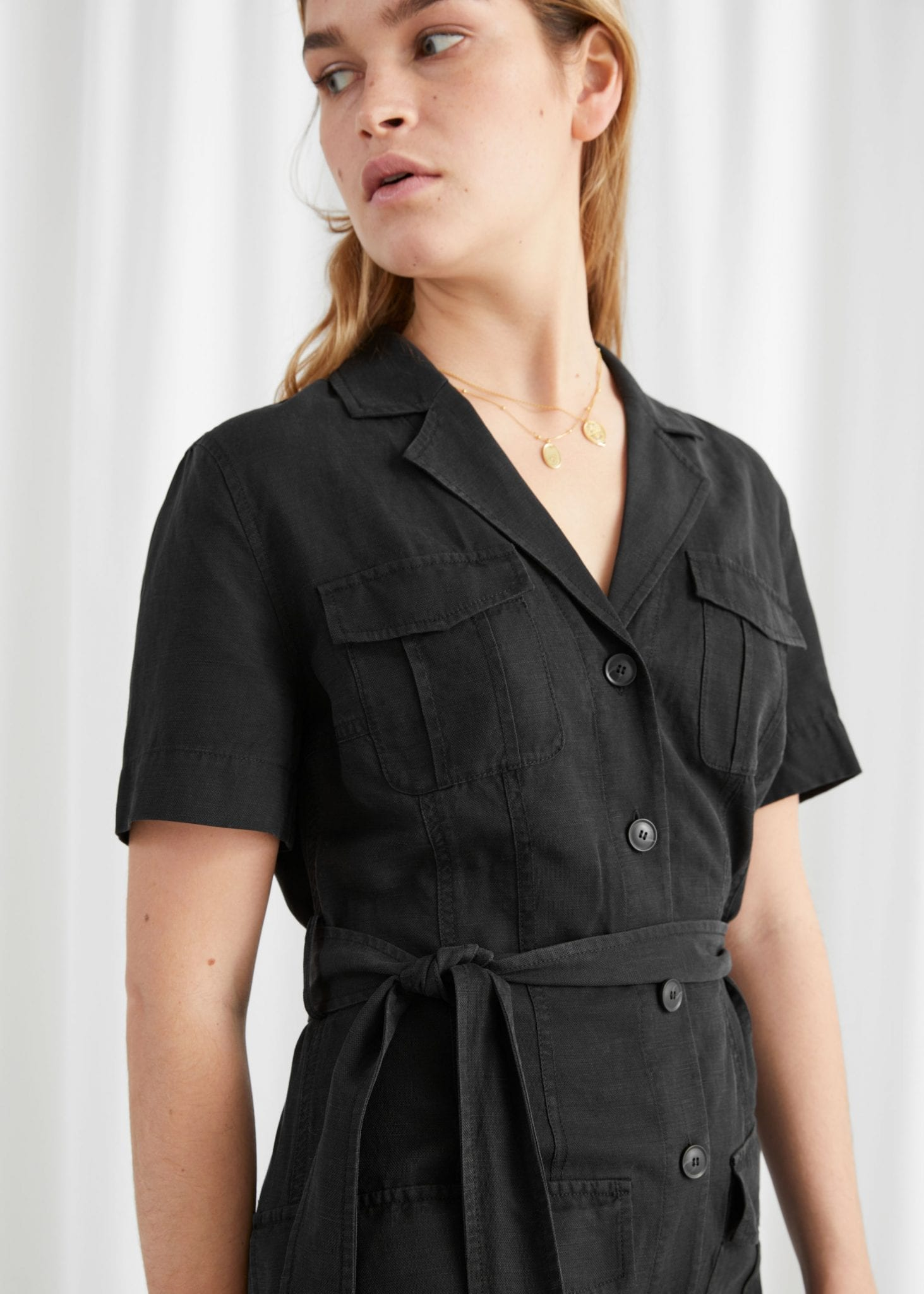 OTHER STORIES Belted Workwear Mini Dress