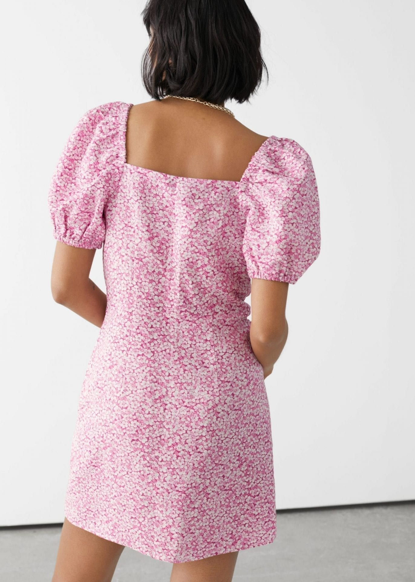 OTHER STORIES Fitted Puff Sleeve Mini Dress