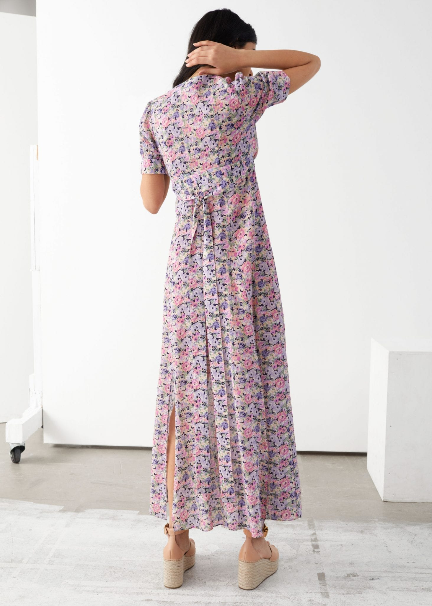 OTHER STORIES Floral Print Maxi Dress