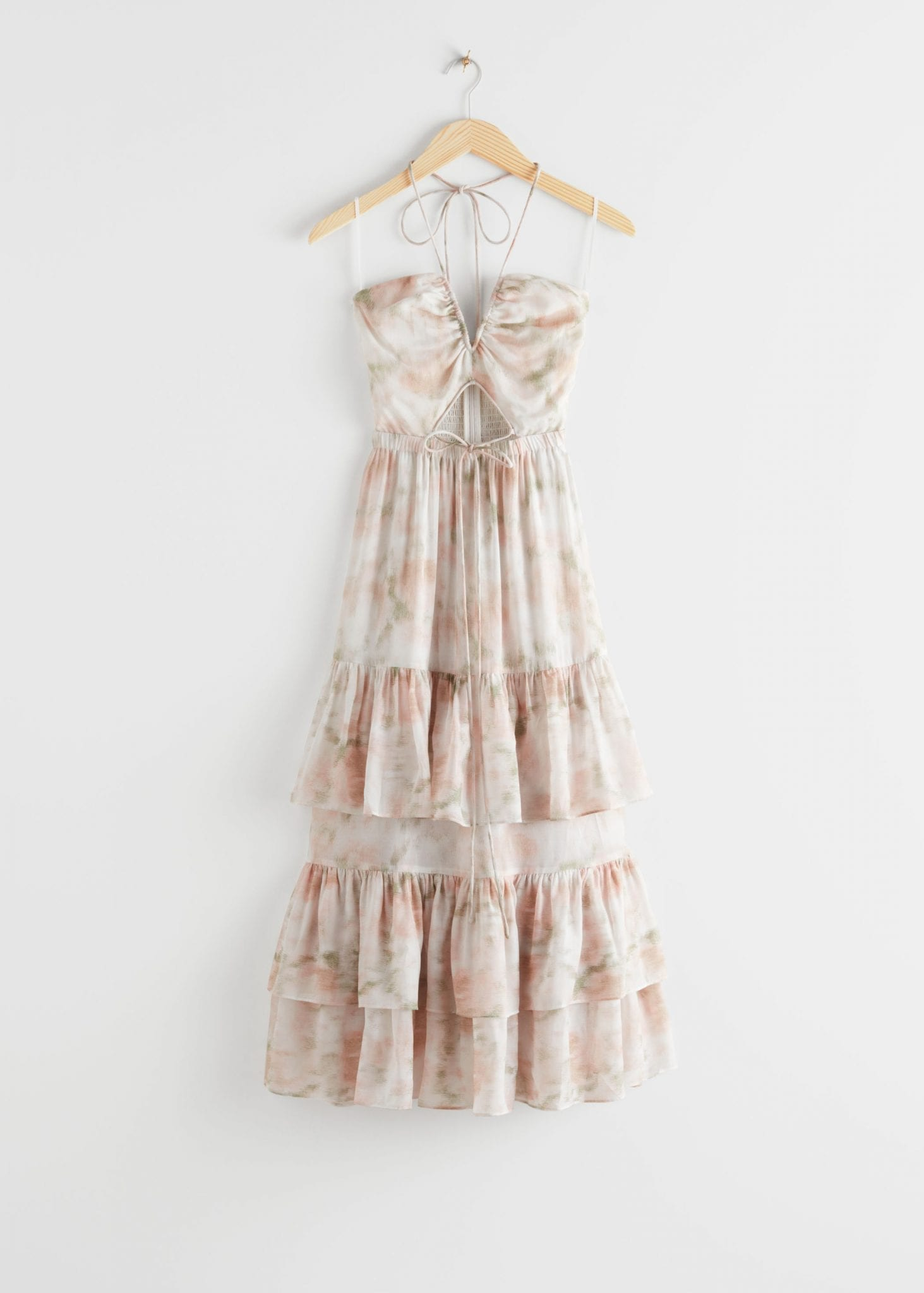 OTHER STORIES Frilled Halter Midi Dress