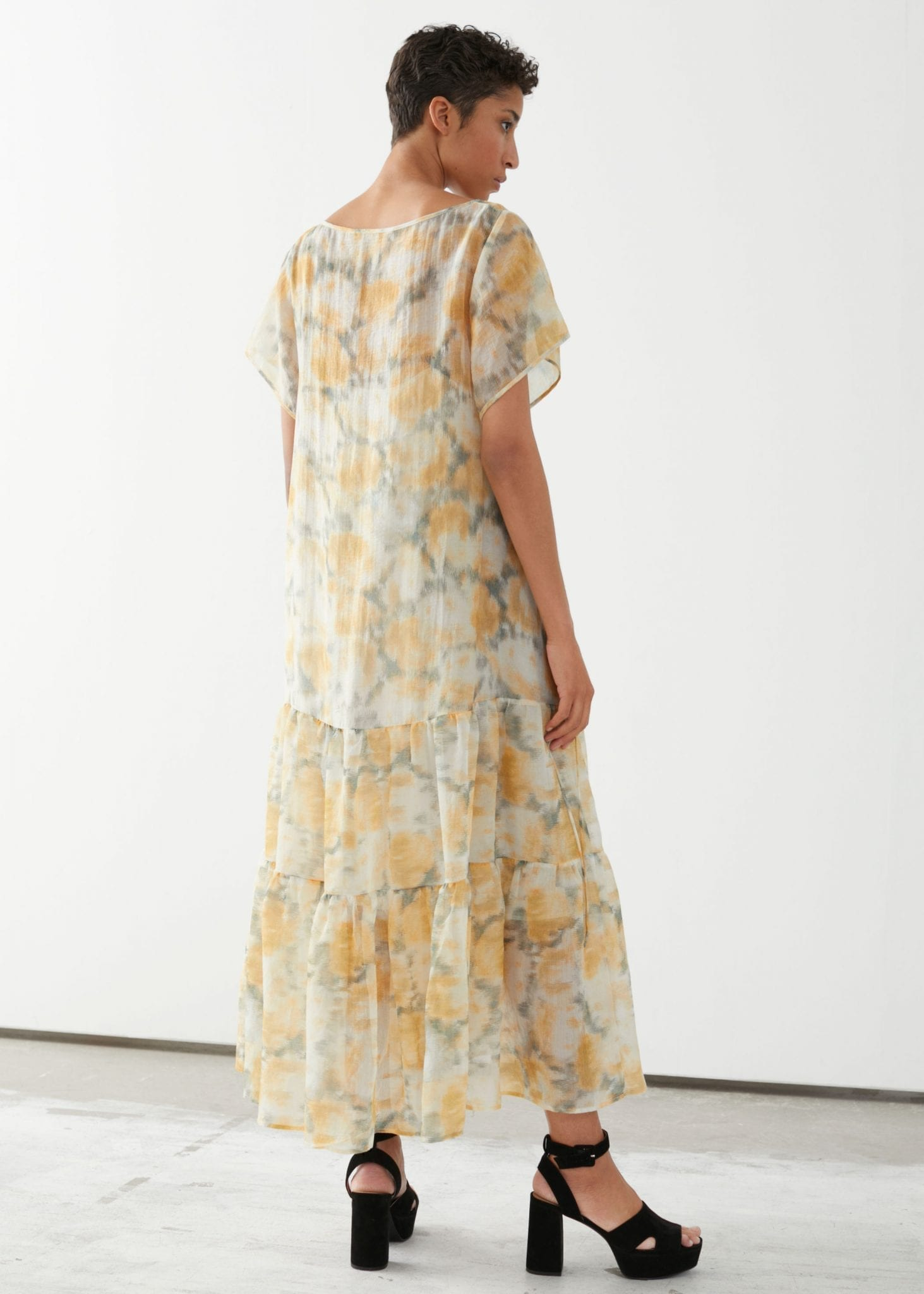 OTHER STORIES Sheer Lyocell Blend Maxi Dress
