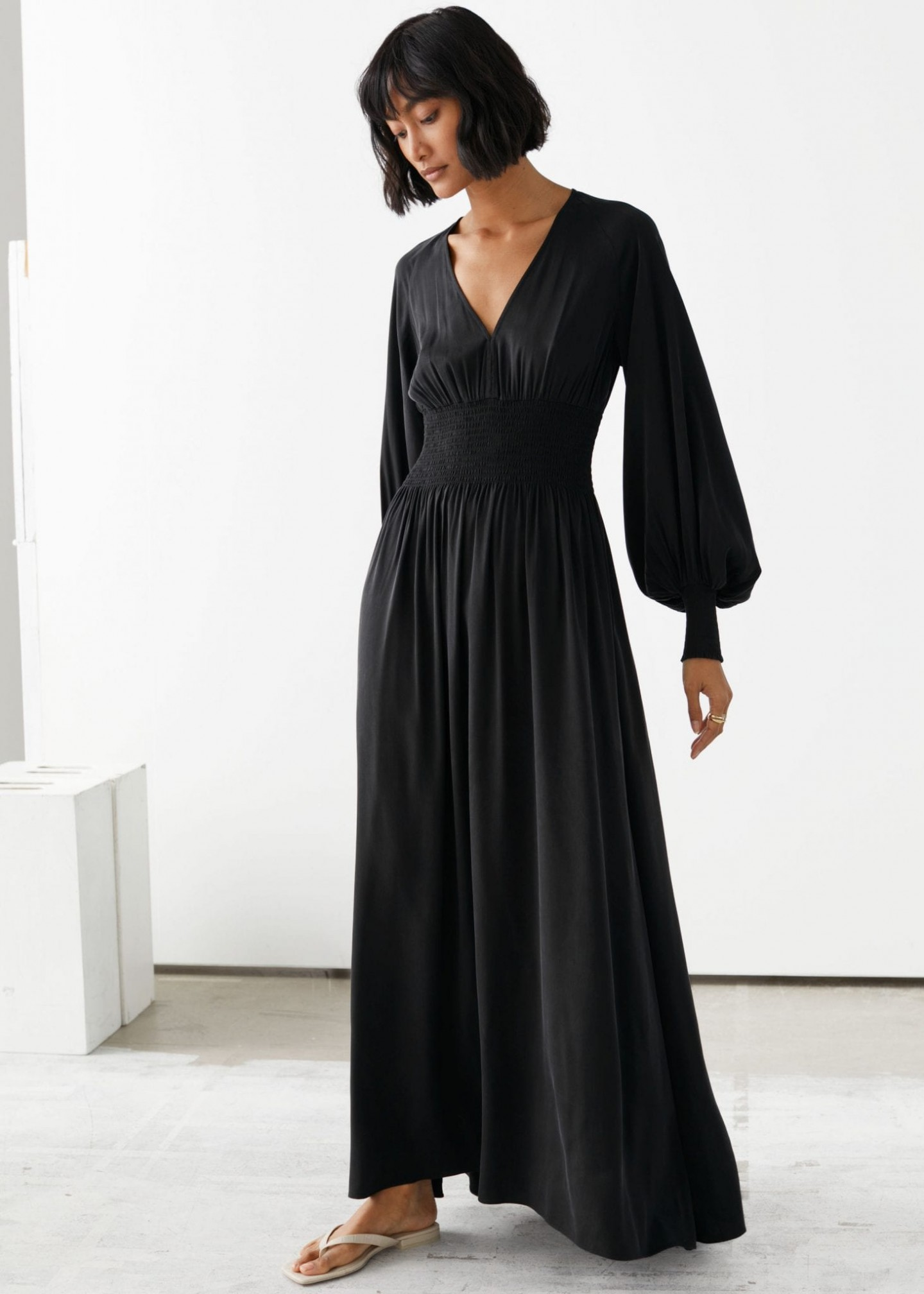 OTHER STORIES Smocked Waist Maxi Dress