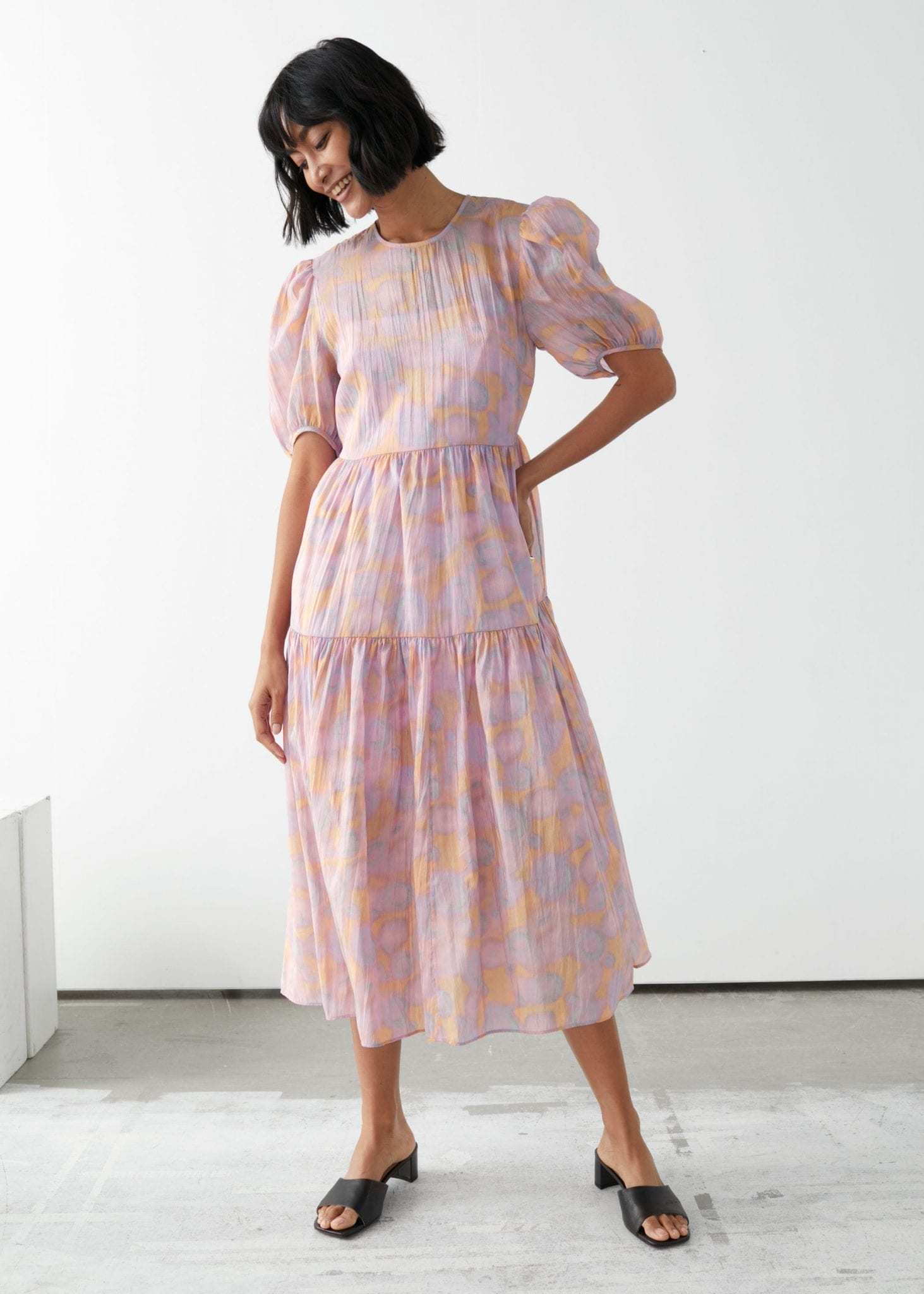 OTHER STORIES Voluminous Puff Sleeve Midi Dress