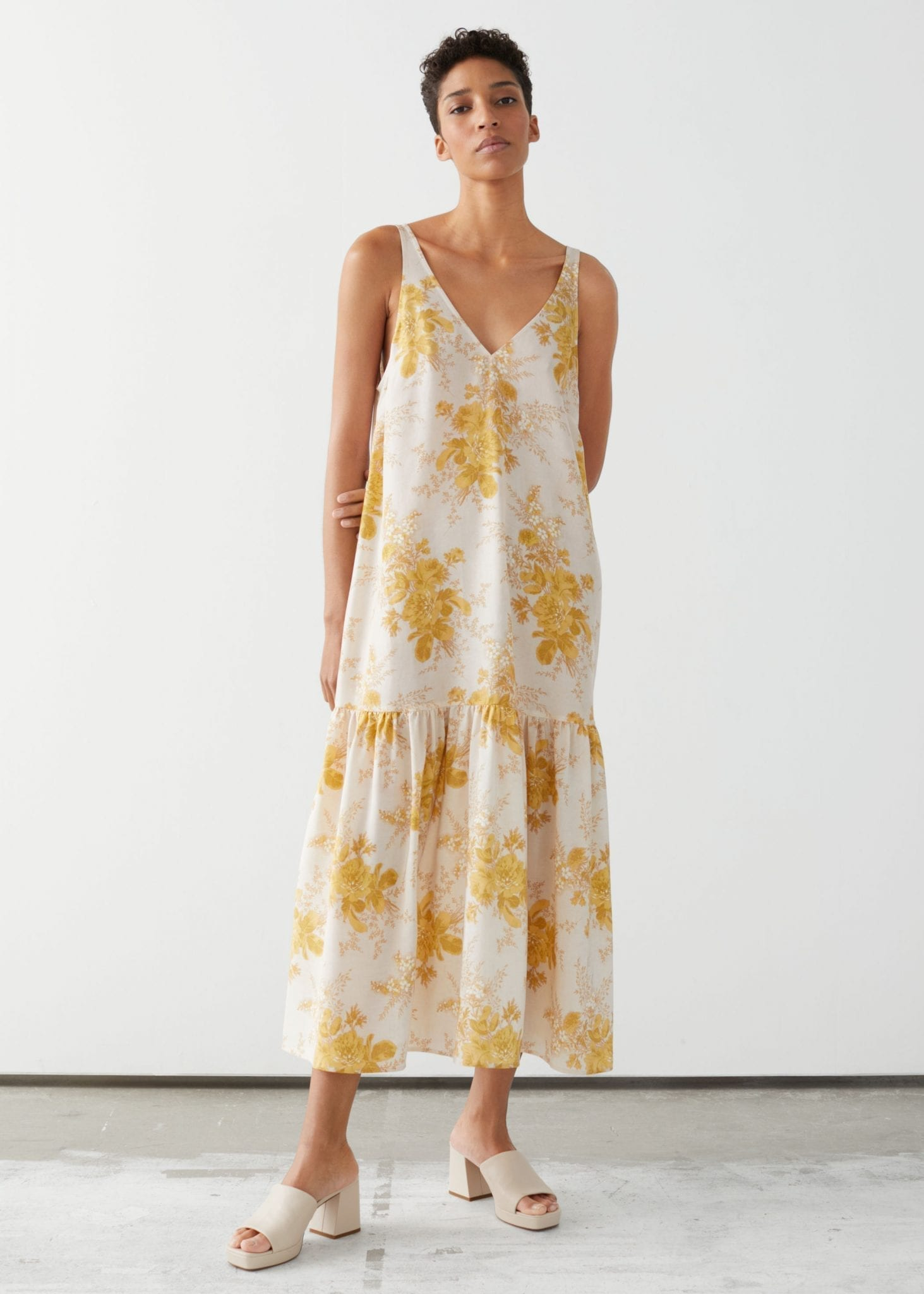 OTHER STORIES Voluminous Silk Maxi Dress