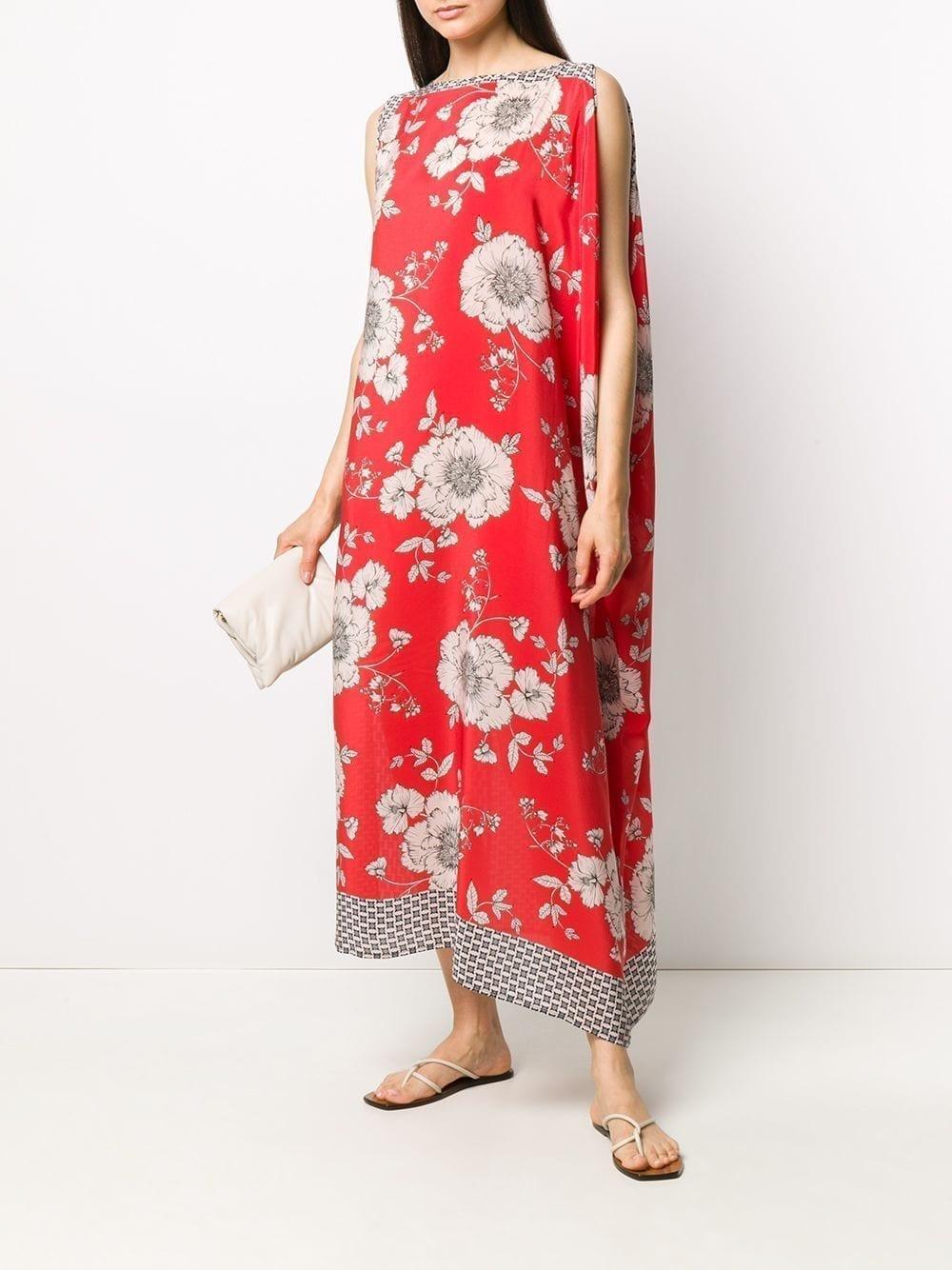 P.A.R.O.S.H. Draped Floral-print Dress