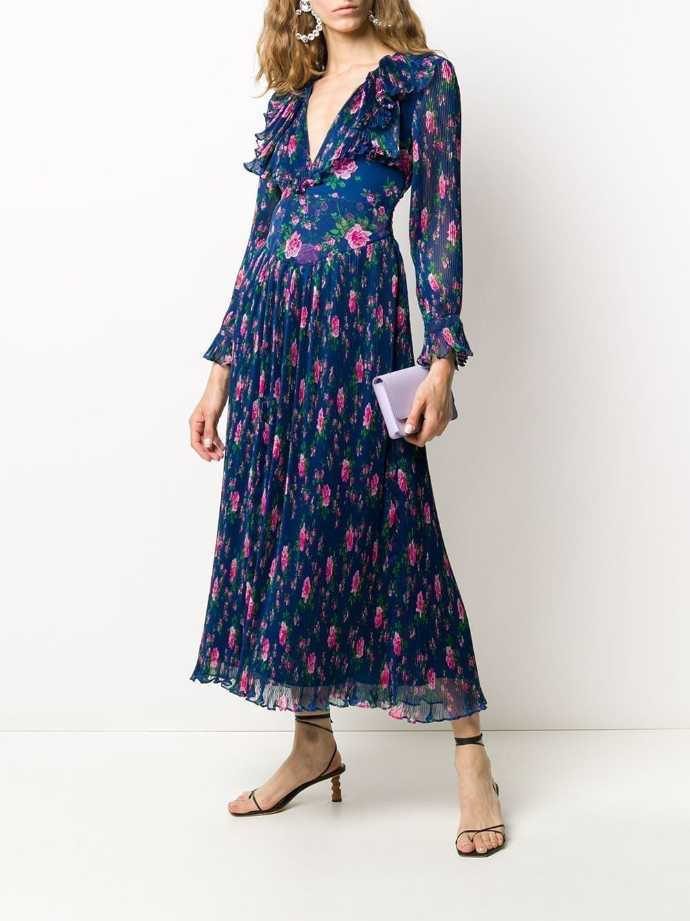 PHILOSOPHY DI LORENZO SERAFINI Floral Print Pleated Dress