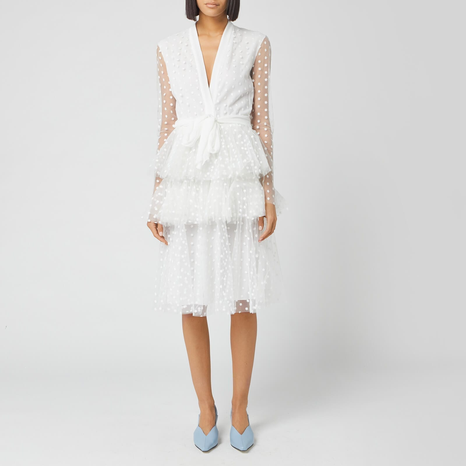 PHILOSOPHY DI LORENZO SERAFINI Women's Tiered Ruffle Dress